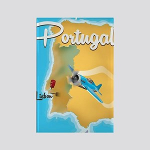 Portugal travel poster  Rectangle Magnet
